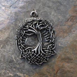 přívěsek,medailon keltské uzly,zapadající slunce,strom života